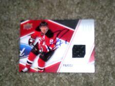 Zach Parise Hand Autographed Upper Deck 2011-12 Game Jersey Card  COA