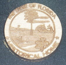 Florida State Historic Home Wooden Plaque 1:12 House Miniature Close Out