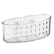 InterDesign Suction Bathroom Caddy for Soaps, Loofa's, Sponges-Clear