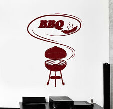 Vinyl Wall Decal Barbecue Cooking BBQ Food Meat Stickers Mural (ig4560)
