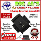 50Amp Anderson Plug External Mounting Mount Kit Bracket Dust Cap Cover System 50
