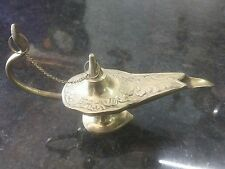 Chirag  Brass Oil Lamp Aladdin Rare Vintage Incense Burner Religious Home Decor
