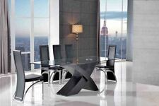 Glass Contemporary Piece Table & Chair Sets 6