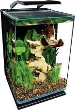 Rounded Corners 5 Gallon Portrait Clear Sliding Glass LED Lighting Aquarium Kit