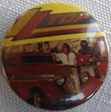 """ZZ TOP Old Vtg 1980`s  Button Pin Badge(25mm-1"""") #NB.126"""