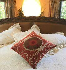Soft Surroundings Ottoman Sofa Embroidered Pillow / Cushion