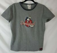 Vintage Embroidered Mickey Mouse Women's Large Disneyland Short Sleeve Shirt