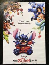 "LILO & STITCH Movie Poster 27x40"" Theater Size DISNEY"