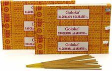 INCENSO GOLOKA Nag Champa bastoncini incenso Confezione 12 Scatole 15 gr