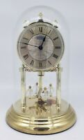 Vintage Seiko Anniversary Clock w/ Glass Dome Battery Operated West Germany