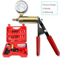 Manual Simple Hand Vacuum Pressure Pump Tester Kit 0-30inHg Light Weight Durable