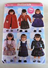 Uncut Butterick #5110 Pattern 18� Doll Clothes Cape Winter Holiday Dresses Etc