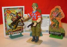 1985 GI JOE BAZOOKA TROOPER 100% Complete + RARE CARDS ARAH VINTAGE HASBRO cobra