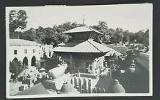 1956 Kathmandu Nepal India Temple Mixed Franking Real Picture Postcard Cover