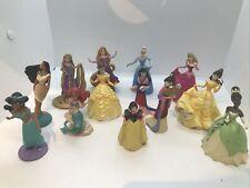 Lot 13 Disney Princess Pvc Figures Belle Snow White Aurora Rapunzel Jasmine