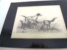 """GUILLAUMET Gustave(1840-1887)""""LA MEUTE DE CHIENS"""" DESSIN DU 19è  CRAYON NOIR (E)"""