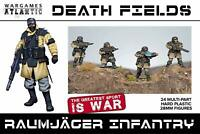 Wargames Atlantic Death Fields Raumjager Infantry Hard Plastic 28mm figures (24)