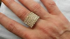 AMAZING SKYS CLEAR CRYSTALS IN A DAZZLING GLITZY RING, SIZE ADJUST
