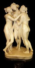 AFTER ANTONIO CANOVA A LARGE MARBLE STATUE OF THE THREE GRACES