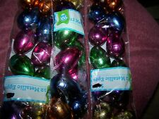 Easter Craft , Metallic, Glitter, Iridescent Fillable Easter Eggs Total 36