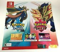 "Pokemon Sword & Shield Promo Promotional Display Wall Poster 25"" x 24"" Nintendo"