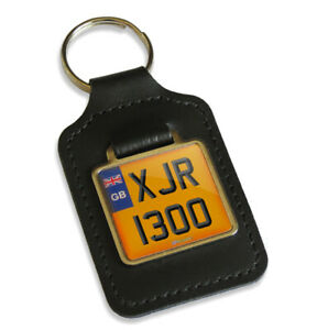 XJR 1300 Reg GB Number Plate Leather Keyring Key Fob for Yamaha XJR1300