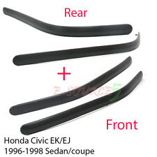 Front + Rear Bumper Molding Impact Pad Trim 96-98 Honda Civic EK EJ Couple Sedan