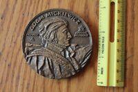 Adam Mickiewicz Bronze Coin Paperweight Award Vintage Antoine Bourdelle Vintage