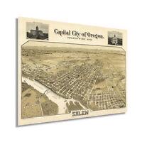 HISTORIX Vintage 1905 Map of Salem Oregon