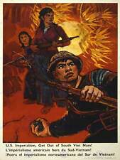 Propagande était Vietnam US Imperialism SOLDIER GRENADE Jungle posterbb 6963b