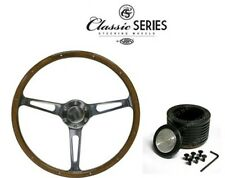 Holden HT,HK,HG SAAS Classic WOOD Steering Wheel Deep Dish 380m & Boss Kit Combo