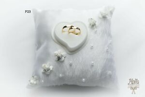 wedding anneau pillow cushion engagement ring holder p 23 small roses