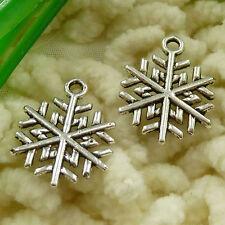 free ship 210 pcs  tibetan silver snowflake charms 20x16mm #2696