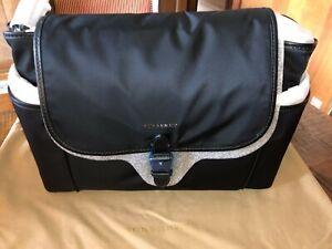 Large Diaper Bag Baby Bag Canvas Diaper Bag\uff0cLarge Tote Diaper Bag\uff0c9 pockets Nappy Bag,Canvas Leather ToteLarge Diaper Bag Set