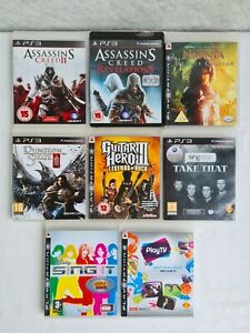 Set of 8 Playstation 3 Classic Games (Assassin's Creed, Guitar Hero 3, etc)