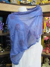 100% Rayon Ram Light weight Small Scarf/Shawl Indian Handmade Om Print