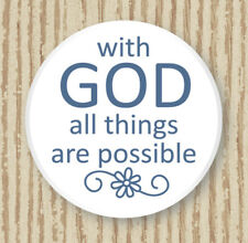 WITH GOD ALL THINGS ARE POSSIBLE PORCELAIN POCKET TOKEN WORRY DEPRESSION COMFORT