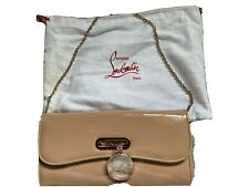 100% Authentic NEW NOT WORN Christian Louboutin Riviera Nude Patent Hand Bag