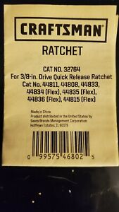 Craftsman 3/8 inch drive Ratchet Repair Kit 32764 For Asian Ratchets Only!