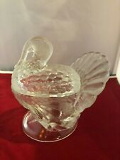 Clear Glass Turkey Candy Dish