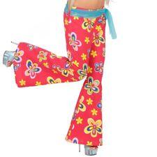 70er JAHRE BLUMEN SCHLAGHOSE # Damen Hippie Hose Flower Power Schlager Kostüm M