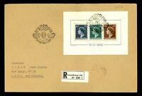 Luxembourg #B151 S/S FDC EUR600.00 Grand Duchess Charlotte