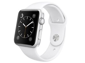 Apple Watch Sport 42mm Aluminum Platinum Case with White Sport Band MJ3N2LL/A NB
