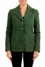 C 'N' C Costume National Verde con Botones Mujer Blazer Eu S It 40