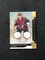 2019-20 UPPER DECK ARTIFACTS VINCENT HINOSTROZA MATERIALS DUAL JERSEY #ed 78/165