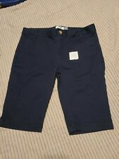 Girls Old Navy Navy Blue Shorts School Uniform Skinny Leg adjustable Size 16