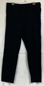 J.JILL Women's Navy Cotton Knit Pull On Pants ~ Size M