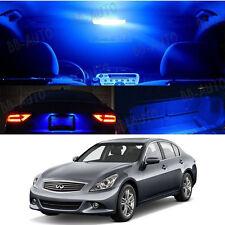 For 06-15 Infiniti G37 Interior Xenon Blue LED Bulb 5050 SMD Package Kit 13pcs2