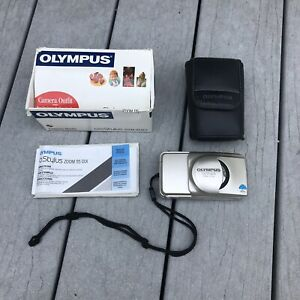 Olympus Stylus Epic Zoom 115 35mm Film Point & Shoot Camera W/ Case