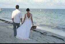 Jenny Packham white wedding dress UK 10  perfect for a beach wedding!